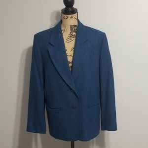 14W Jacket Pendleton Wool Blazer Teal Plus